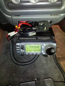 Image showing the 706 mounted in my truck's center console