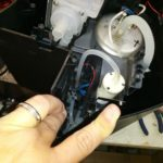 Lower (main) pump below the tank as well as an aerator (near my finger).
