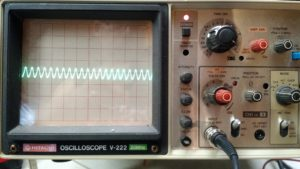 Waveform on the scope